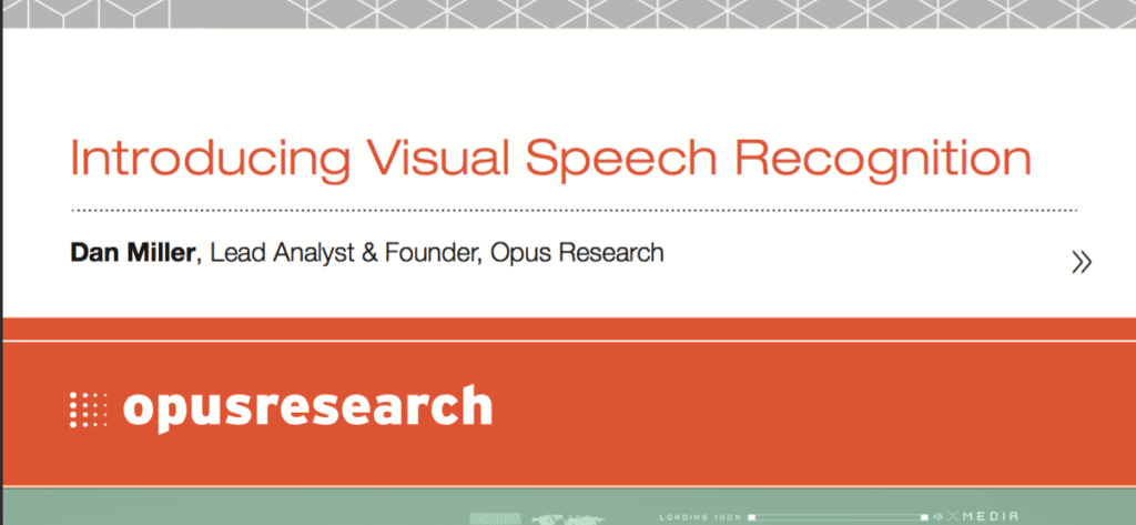 LIOPA LAUNCHES VISUAL SPEECH RECOGNITION WHITE PAPER WITH OPUS RESEARCH 2