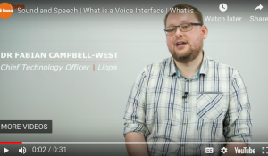 What is a sound speech interface